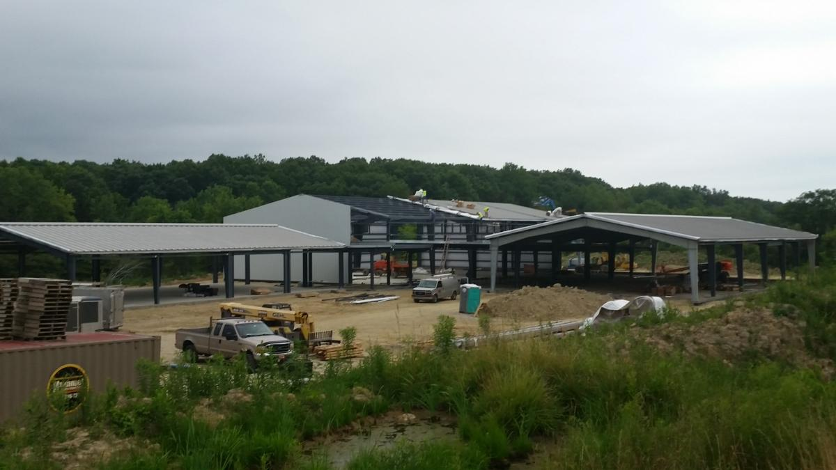 July 30 picture with roof structures completed