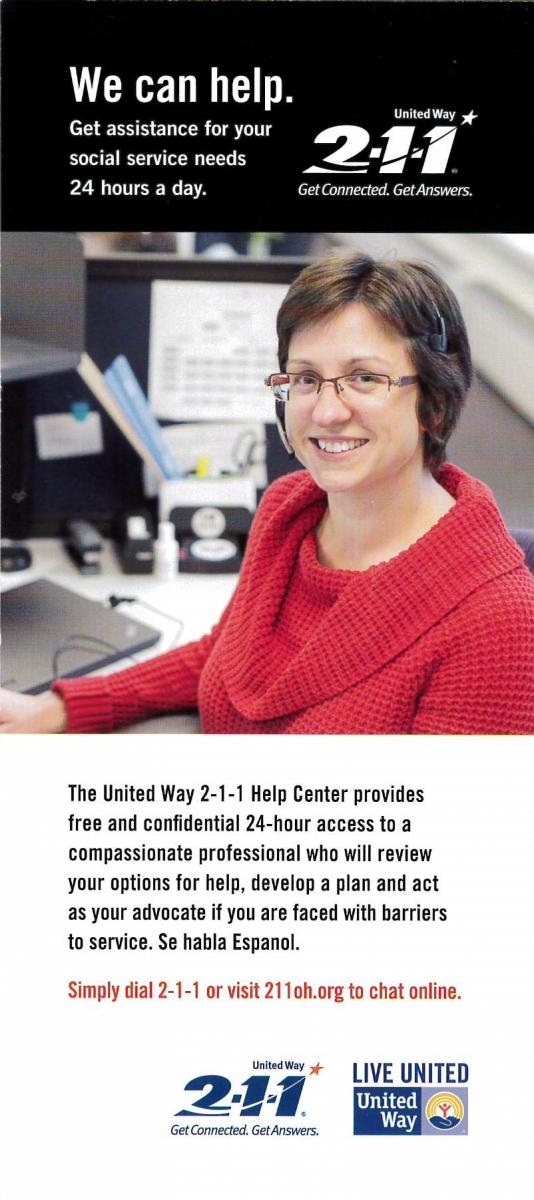 Image and link for United Way 211 service