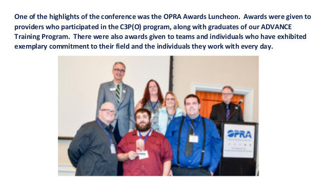 Picture of Independence OPRA Award recipients